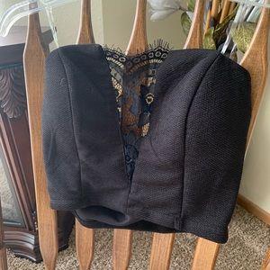 Tops - Black lace crop top